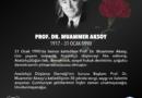 ADD'nin Kurucu Başkanı Prof. Dr. Muammer Aksoy'u saygı ve rahmetle anıyoruz